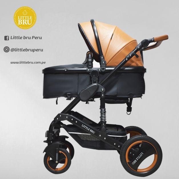 Coche para bebé Modelo Madrid 2020 Negro/Naranja Little Bru