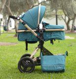 Coche para bebé Modelo Zaragoza 2 en 1 Verde Turquesa Little Bru