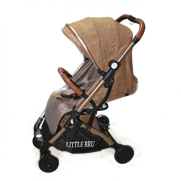Coche para bebé  Little Bru Modelo AVIÓN Marrón