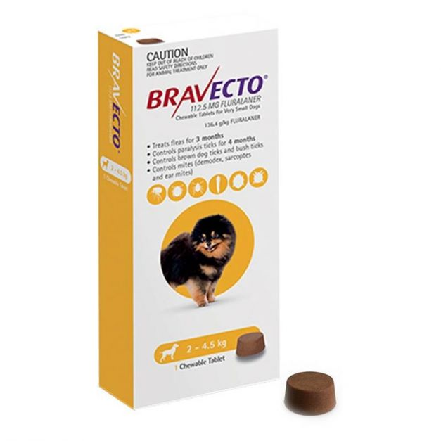 BRAVECTO DOG / 2- 4.5 kg (Tabl)
