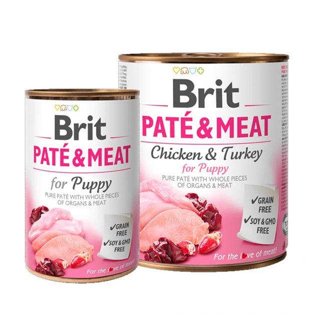 BRIT PATE & MEAT CHICKEN & TURKEY FOR PUPPY