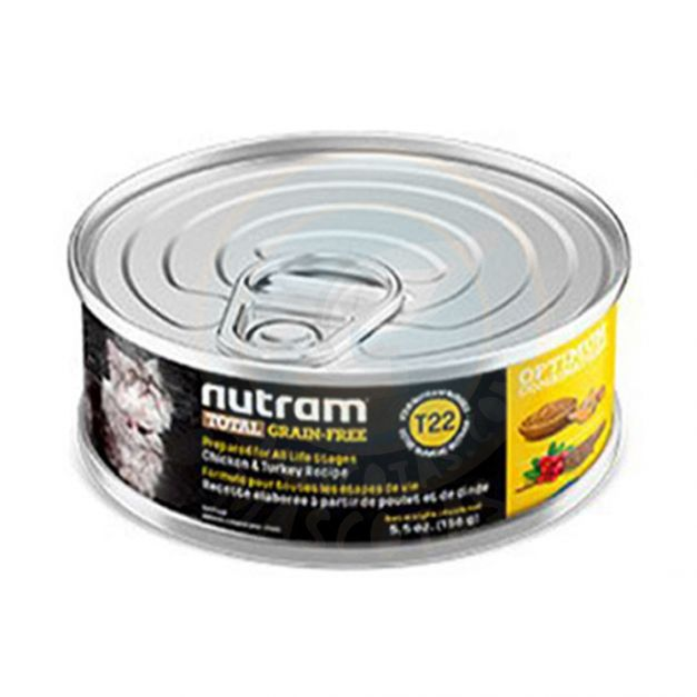 T 22 NUTRAM CHICKEN & TURKEY CAT CANNED FOOD (HÚMEDO)