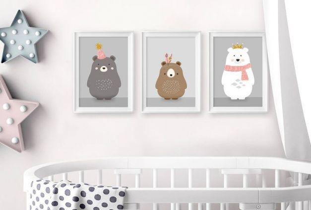 Cuadros Decorativos Pintados a Mano para el Cuarto del Bebé
