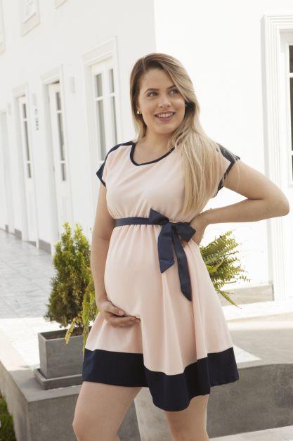 Vestido de Maternidad Modelo Caprina