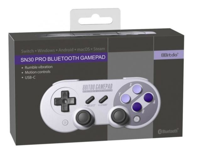 SN30 Pro Controller - SN (SNES classic colors)