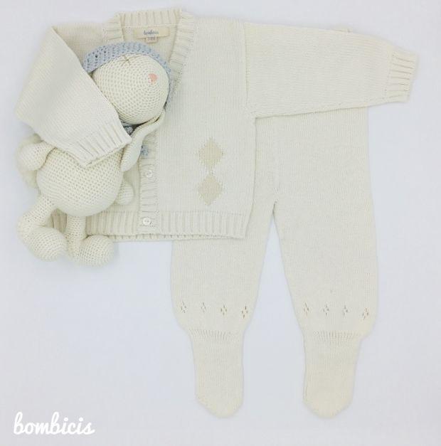 SET CAPI chompa y pantalón - Disponible talla 3-6 meses