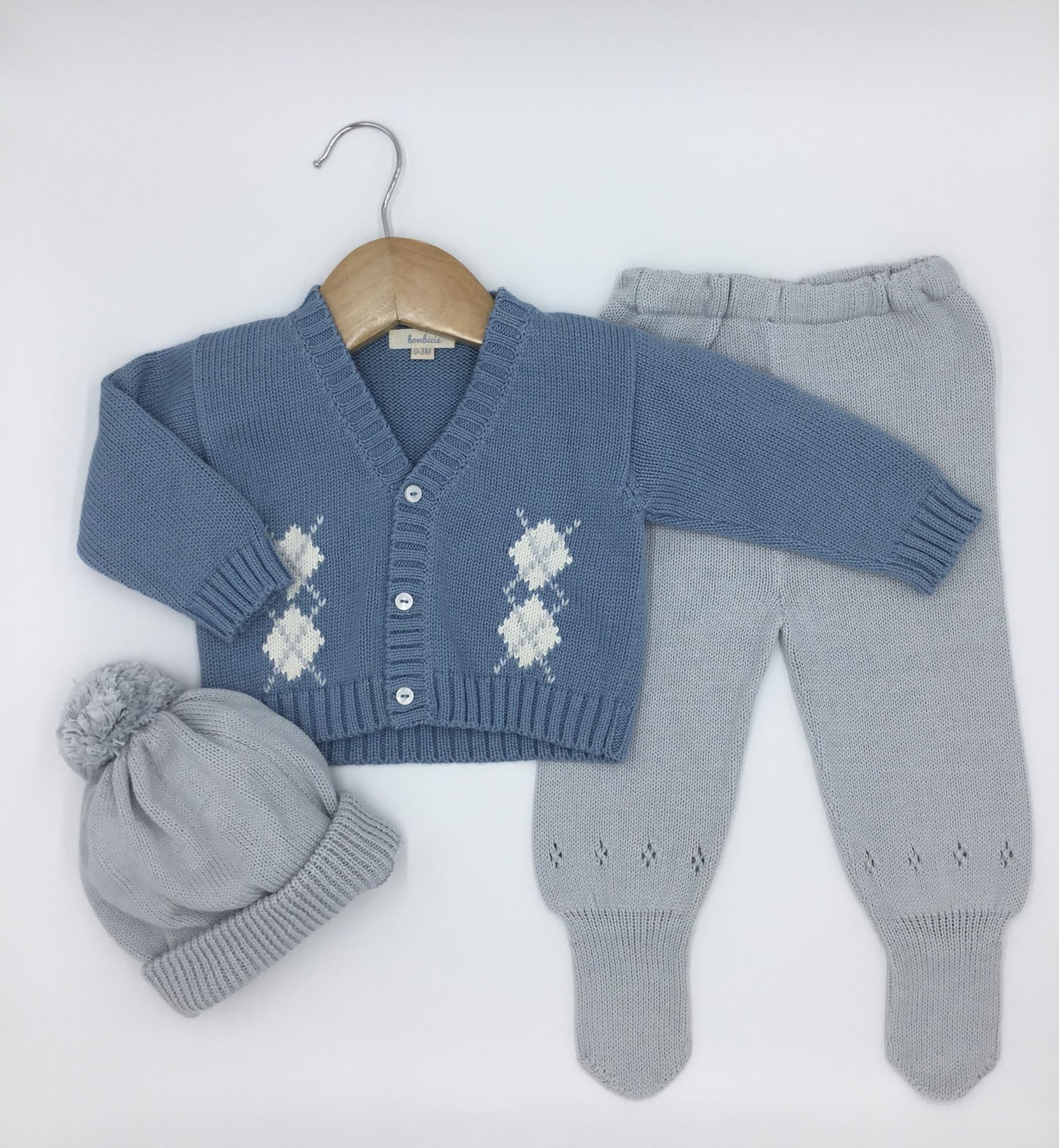 SET ROMBO2 de chompa y pantalón - Disponible talla 0-3 y 3-6 meses