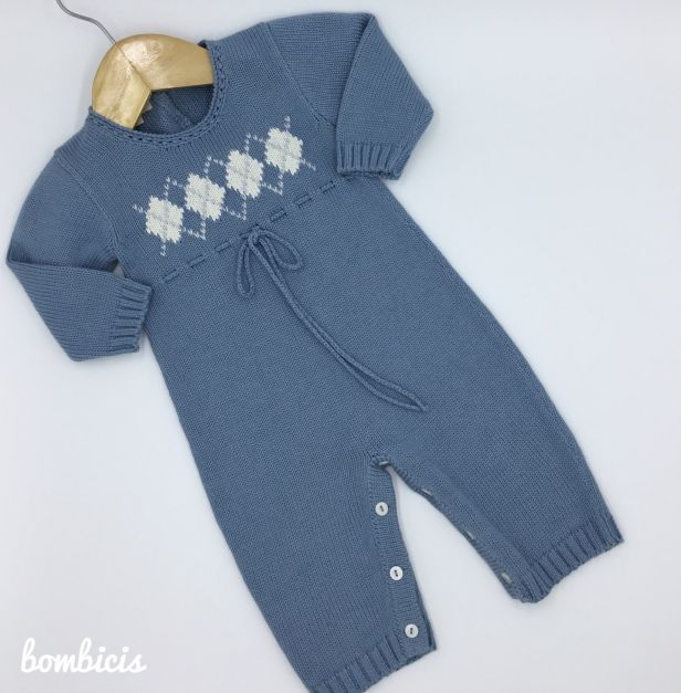 Enterizo JIM azul - Disponible talla 0-3m, 3-6m y 6-9m