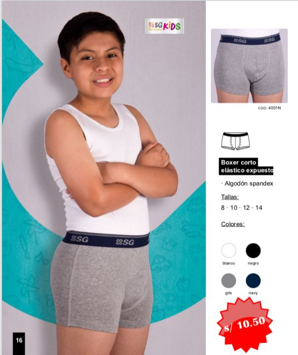 SG KIDS BOXER CD4001N