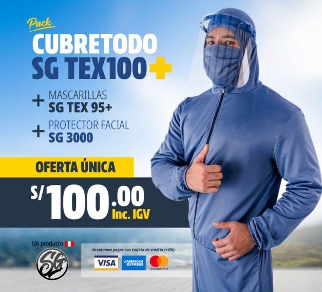 PACK TOTAL  CUBRETODO + MASC + PROTECTOR FACIAL
