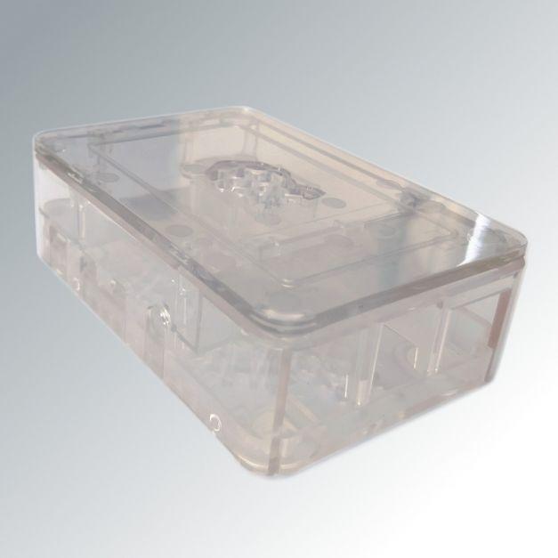 Case transparente para Raspberry Pi 4B con soporte para cámara