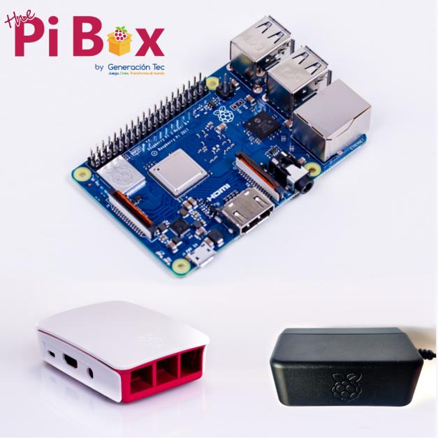 Starter Kit Todo Oficial: Raspberry Pi 3B+ / Case / Adaptador