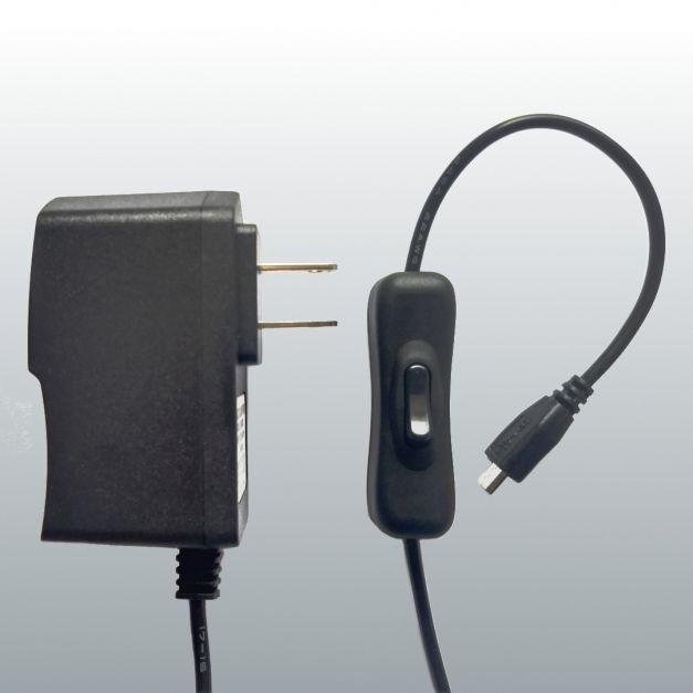 Fuente de poder de 5V y 2.5A con switch de encendido para Raspberry Pi 3B / 3B+ y Pico