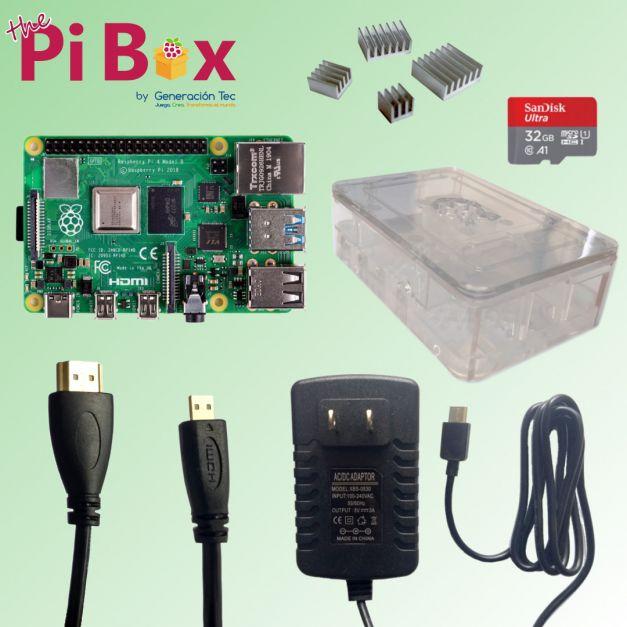 Kit Esencial Transparente con Disipadores - Raspberry Pi 4B (2GB / 4GB / 8GB)