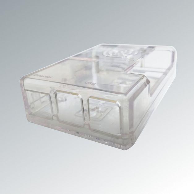 Case transparente para Raspberry Pi 3B/3B+ con soporte para ventilador