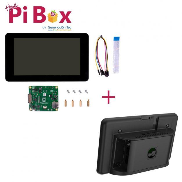 Combo Multitouch: Pantalla Oficial con Case Premium Multicomp Pro (Pi 4B)