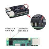 Case de aluminio con ventiladores para Raspberry Pi 4B - Negro o Gris