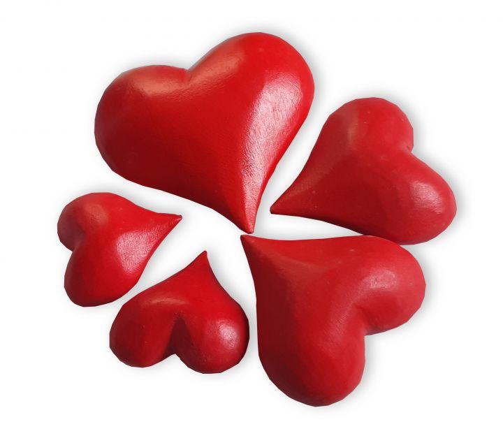 Set de 5 corazones