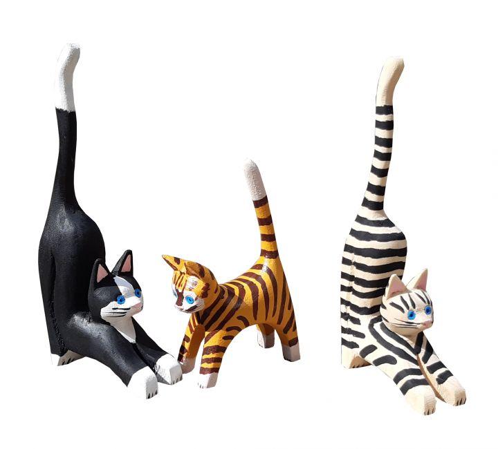 Set de 3 gatos