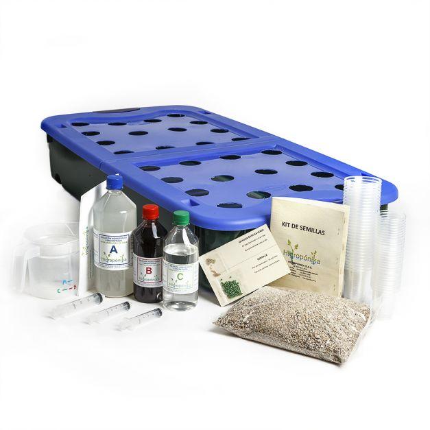 Promo 5 FULL PACK: Hidrohuerto Familiar 28 + Casamalla + Bomba Oxigenación + Kit de semillas + Aceite de neem