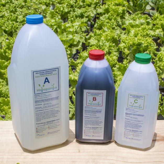 Promoción #4: 02 Soluciones Nutritivas Concentradas A-B-C para 1000 litros c/u