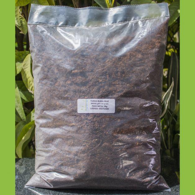TURBA RUBIA PEAT MOSS pH 4.0 a 4.5 SIN NUTRIENTES