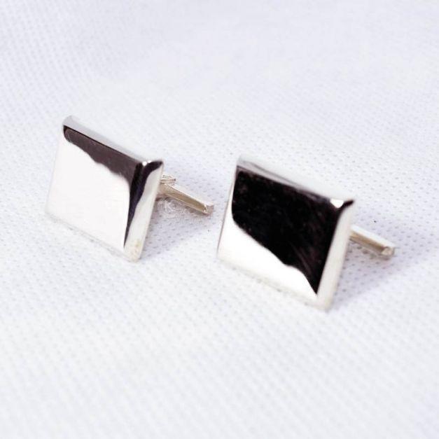 Gemelos de Plata Rectangular