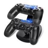 BASE CARGADOR PS4 DOBLE CON LED