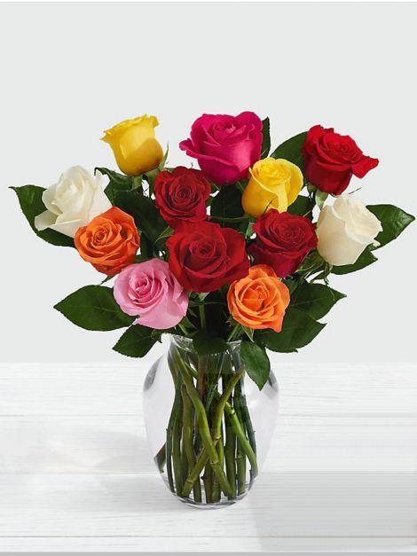Florero 12 Rosas - MA02