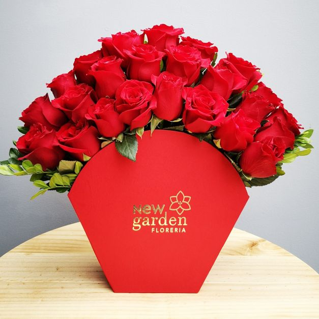 Box Abanico - 24 Rosas