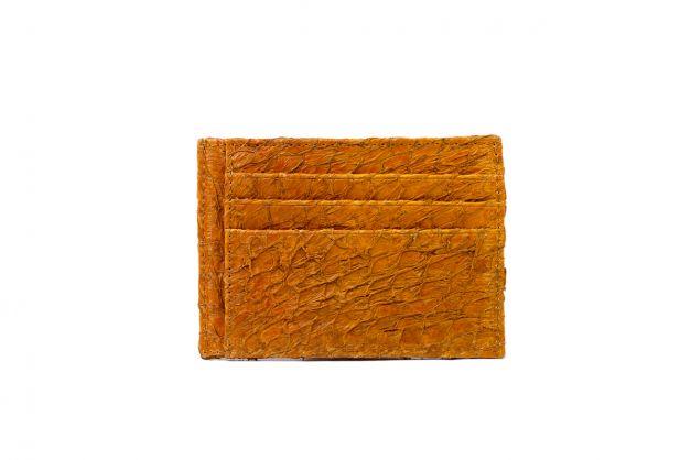 Billetera minimalista de cuero de paiche