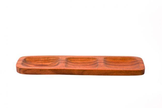 Bandeja rectangular de 3 secciones