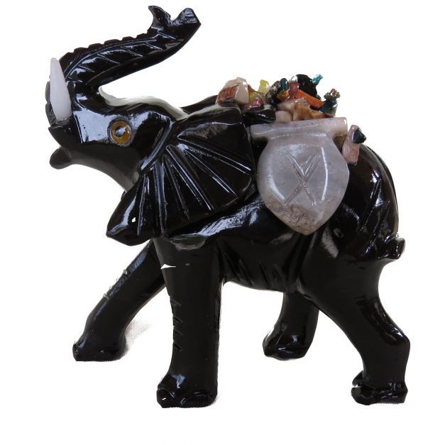 Elefante Negro de mármol