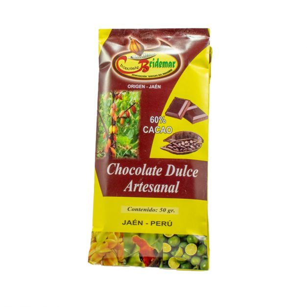 CHOCOLATE DULCE ARTESANAL POR 6 UNIDADES
