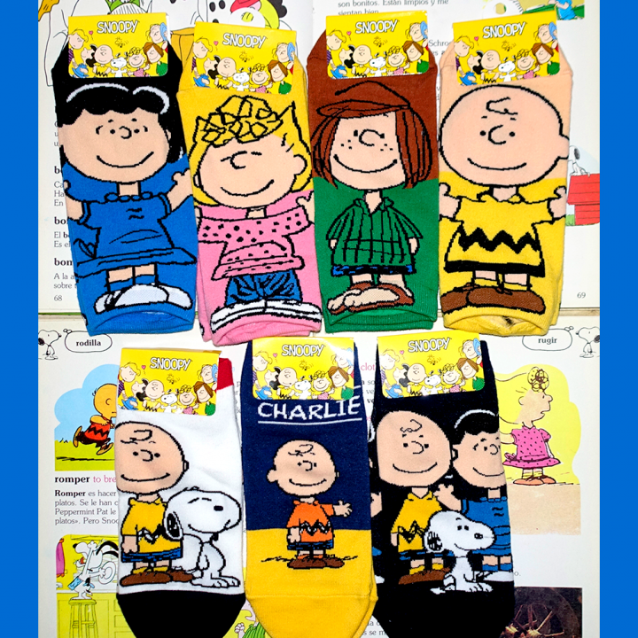 Medias Peanuts - Charlie Brown Taloneras