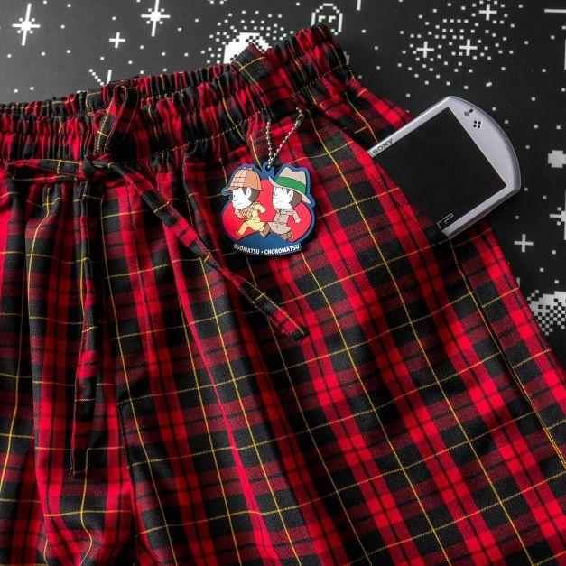 Pantalon Tartán Unisex Rojo