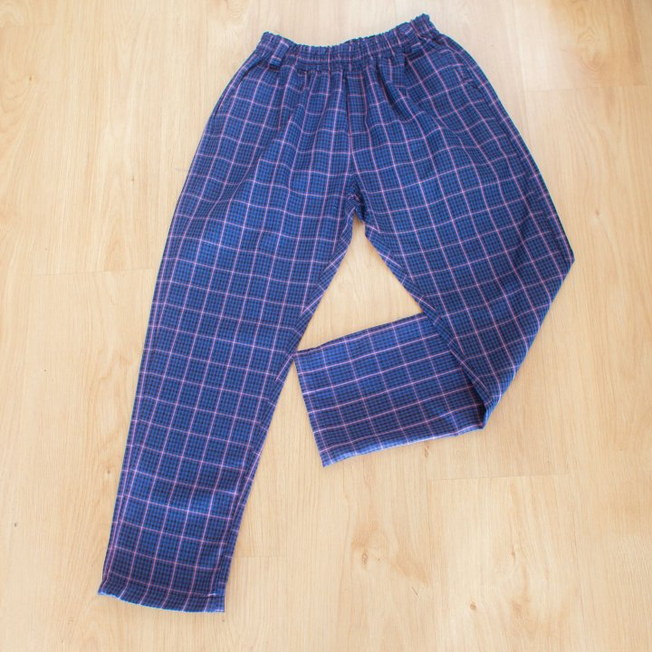 Pantalon Tartán Unisex Celeste Lila