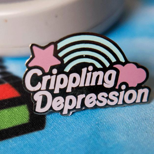 Pin Metálico Crippling Depression