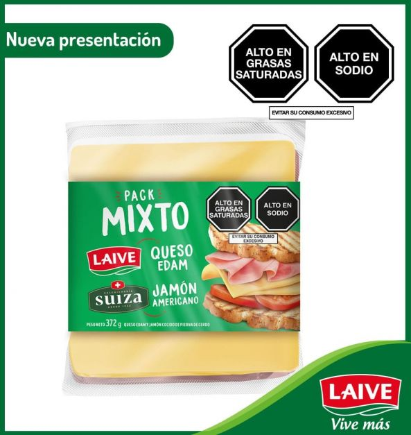 Pack Queso Edam Laive + Jamón Americano Suiza  372 g