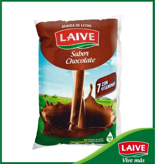 BEBIDA DE LECHE LAIVE SABOR CHOCOLATE BOLSA 900 ML
