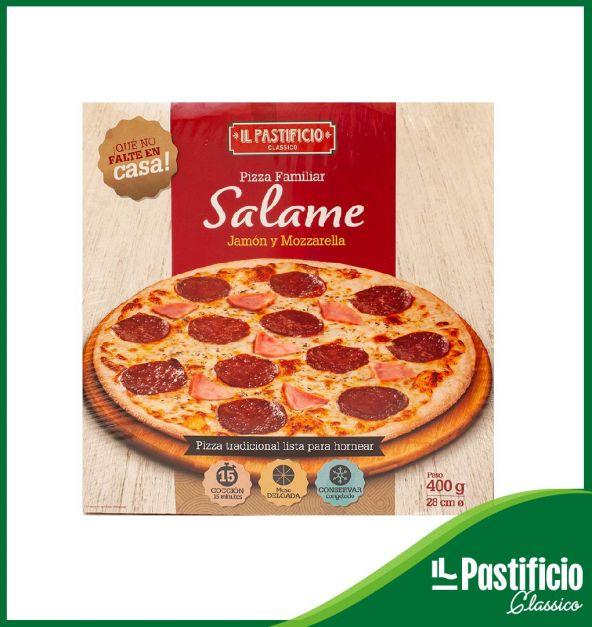 PIZZA SALAME Y JAMON IL PASTIFICIO x 400G