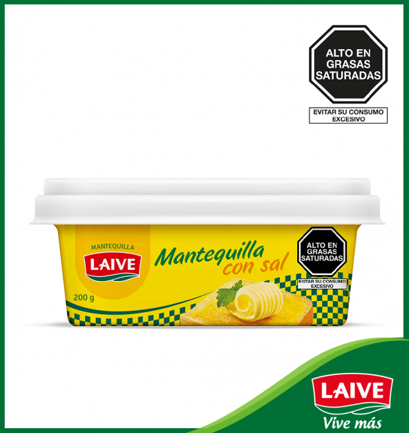 MANTEQUILLA CON SAL LAIVE POTE 200 GR