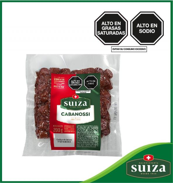 CABANOSSI SUIZA GOURMET PAQUETE X 200 GR