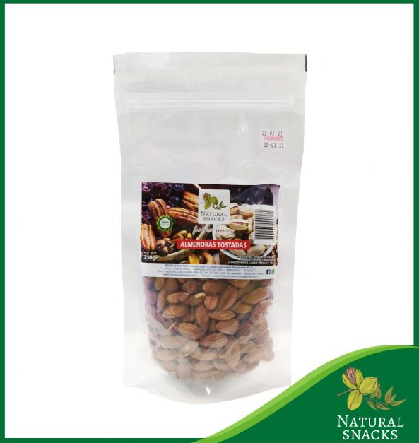 ALMENDRAS TOSTADAS ENTERAS x 250GR. NATURAL SNACKS