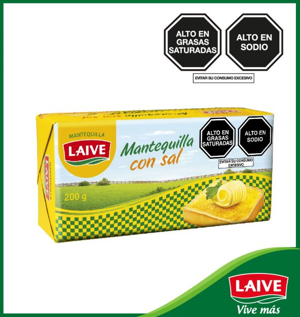 MANTEQUILLA CON SAL LAIVE BARRA 200 GR