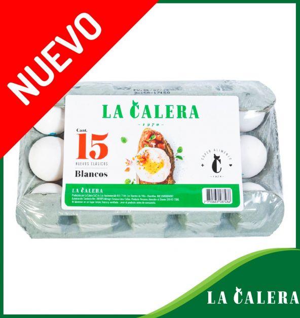 HUEVOS BLANCOS LA CALERA BANDEJA X 15 UND.