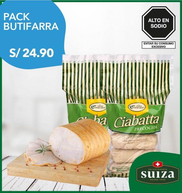 Pack Butifarra: Jamón del País + Pan Ciabatta