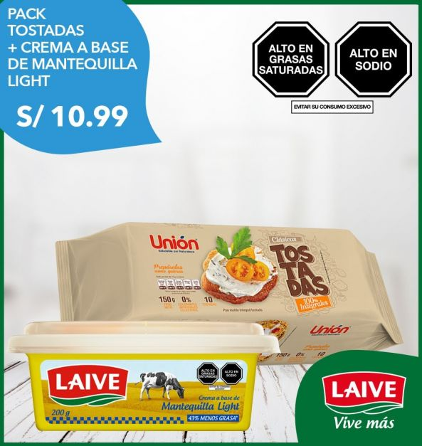 Pack Tostadas + Crema a base de Mantequilla Light