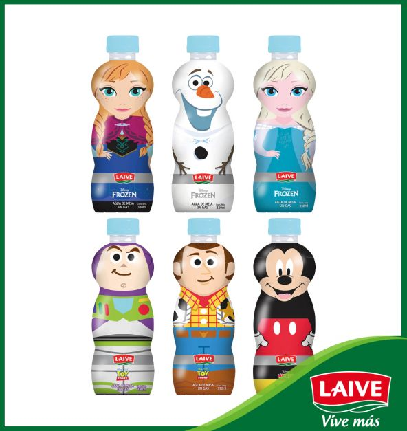 AGUA LAIVE KIDS DISNEY BOTELLA 330 ML