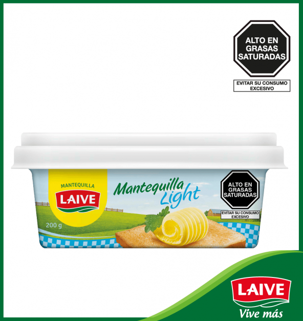 MANTEQUILLA LIGHT LAIVE POTE 200 GR